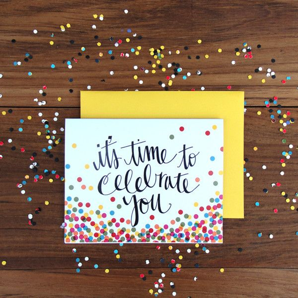 An Open Sketch Book   It's Confetti Time #stationary #card #greetings