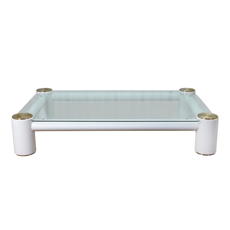 Oversized Coffee Table In The Manner Of Karl Springer