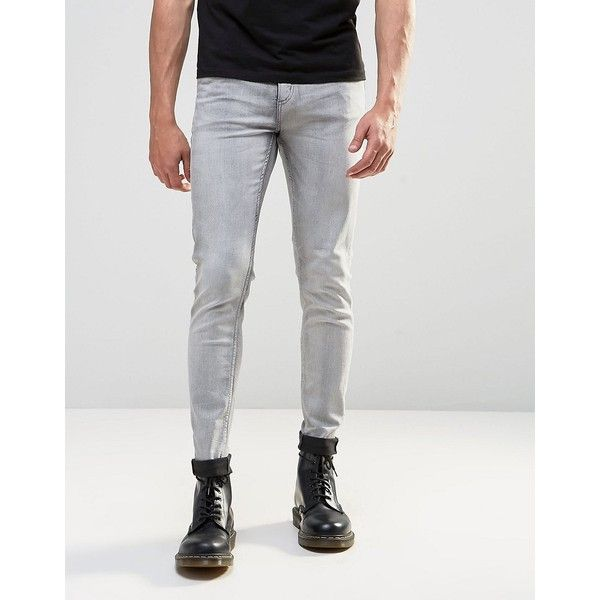 Cheap Monday Him Spray Jeans Mad Grey ($71) ❤ liked on Polyvore featuring  men's - Best 25+ Grey Skinny Jeans Mens Ideas On Pinterest Mens
