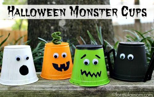 Halloween Monster Cups (great Kids Craft)