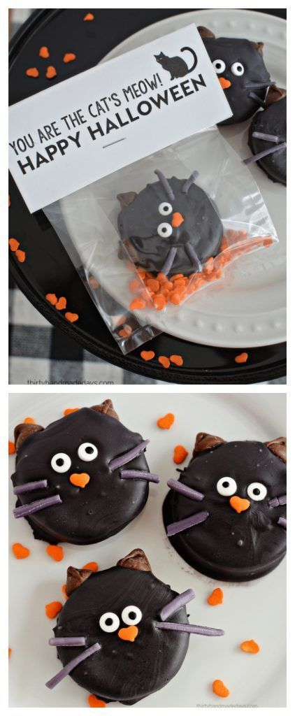 Halloween Ideas| Halloween Cat Oreo Cookies