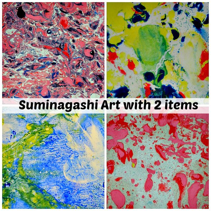 Art projects for kids using oil paint and water