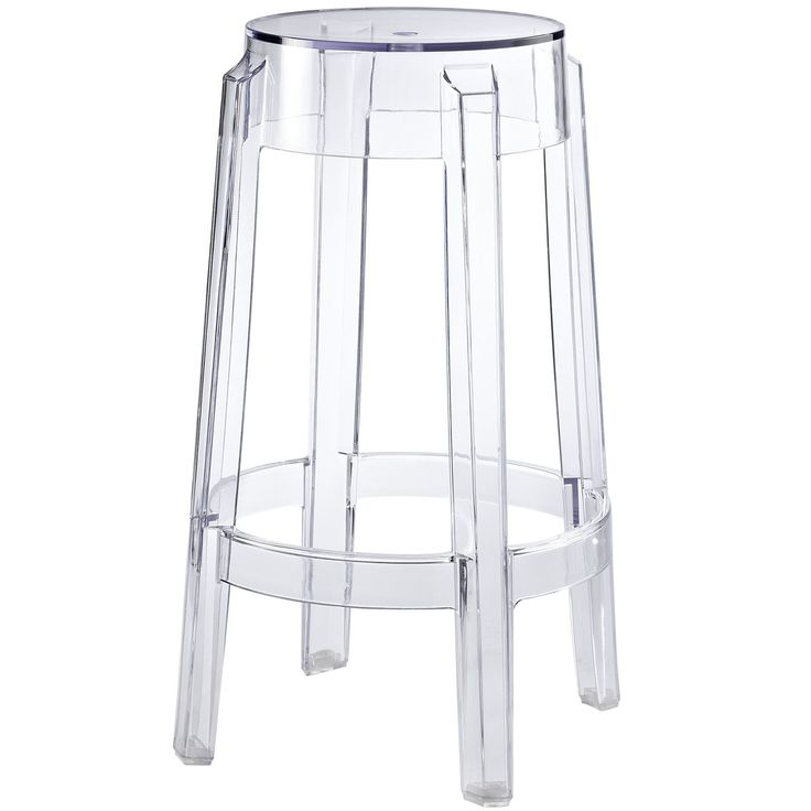 Acrylic Counter Height Stools Part - 33: Kong Style Acrylic Counter Stool In Clear