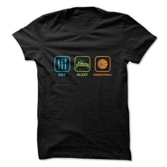 eat sleep basketball funny shirt tee shirts and hoodies shop now tags basketball - Basketball T Shirt Design Ideas