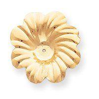 14k Polished Floral Earrings Jackets - JewelryWeb JewelryWeb. $201.80. Save 50% Off!