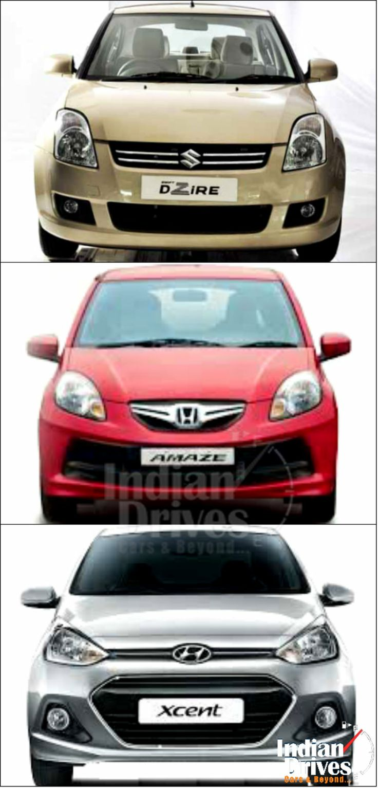 Hyundai xcent vs honda amaze vs maruti suzuki dzire which is your best driven car