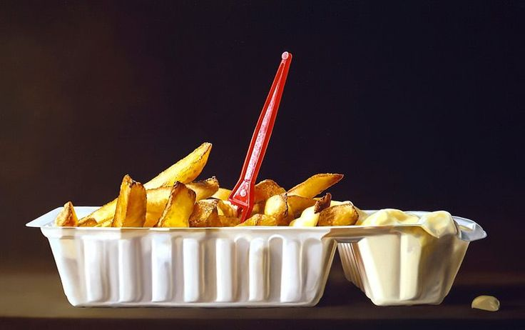 Patat (Fries) oil/canvas