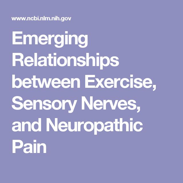 Emerging Relationships between Exercise, Sensory Nerves, and Neuropathic Pain