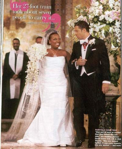 """Star Jones, lawyer, journalist, and TV personality married investment banker Al Reynolds on 11/13/04. Amid much publicity, The wedding featured three matrons of honor, twelve bridesmaids, two junior bridesmaids, three best men, twelve groomsmen, three junior groomsmen, six footmen, four ring bearers, and four flower girls. More than thirty corporate """"sponsors"""" donated wedding attire and merchandise for the event in exchange for mentions in the media and on Star's website. They divorced…"""