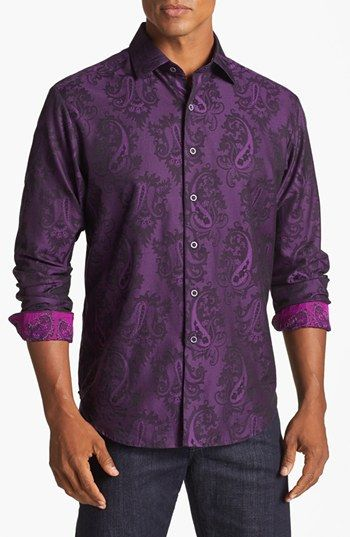 17 best images about mens clothing on pinterest robert for Robert graham tall shirts
