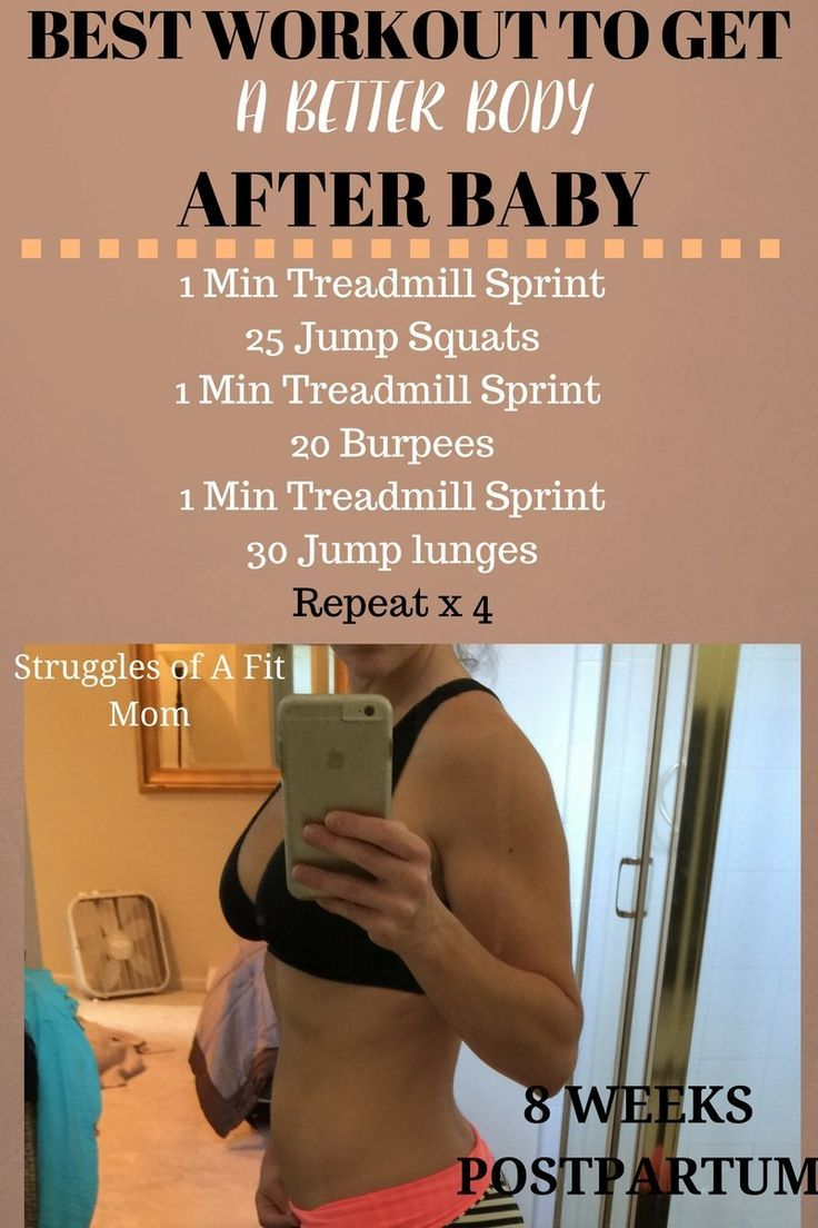 Get a better body postpartum with this quick high intensity workout.