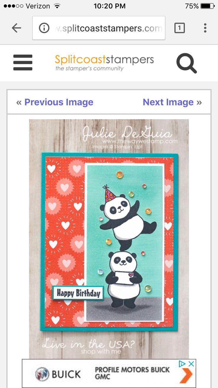 132 Best Cards Party Pandas Images On Pinterest Panda Panda