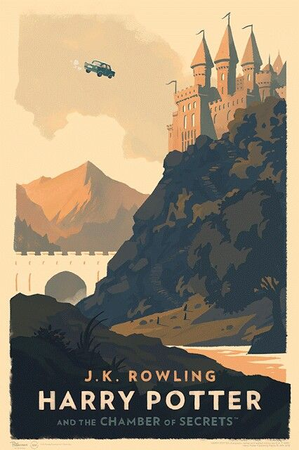 Harry Potter and the Chamber of Secrets . Art by Olly Moss