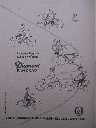 https://flic.kr/p/5CtedR | Your Faithful Companion....Diamant Fahrrad Werbung 1954