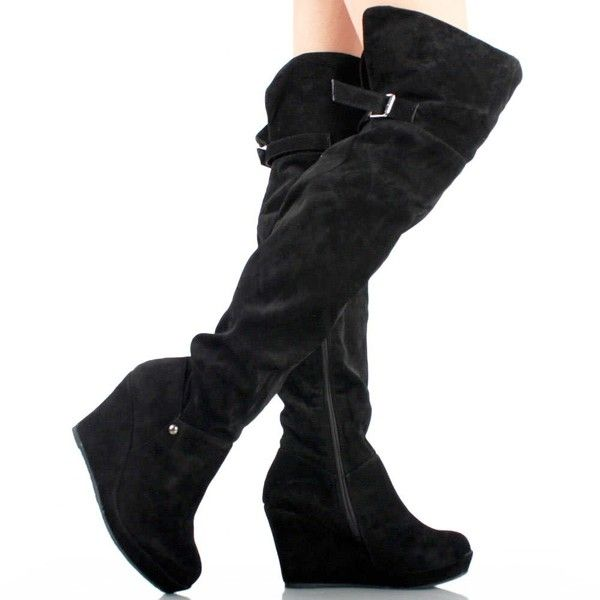 Best 25  Thigh high boots suede ideas on Pinterest | Thigh high ...