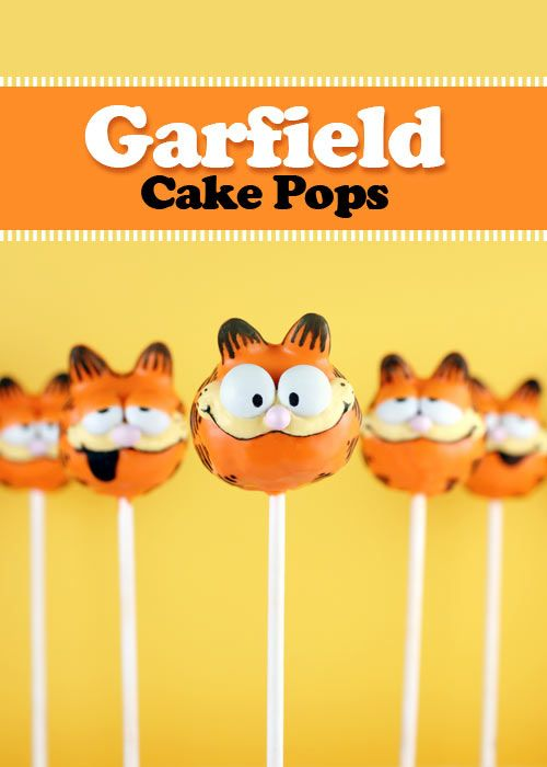 Garfield Cake Pops- i guess cakepop give a ways would do:)