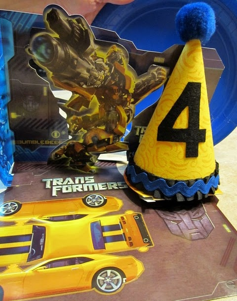 Basic Party Hat to match Transformers party theme  Fiesta ...