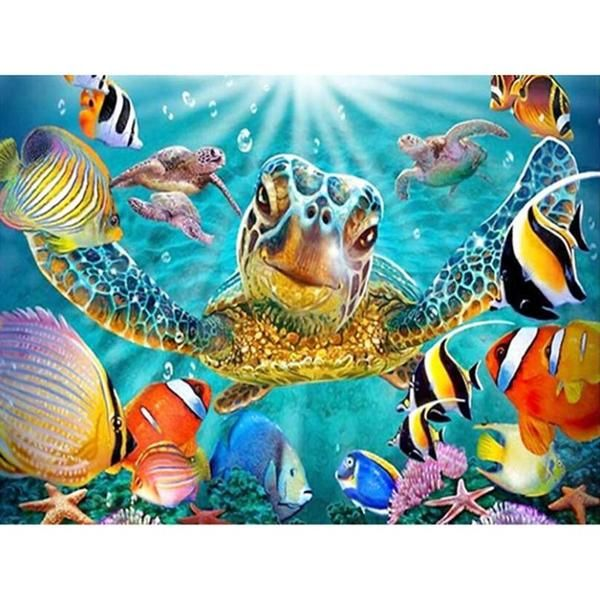 Ocean Fish Full Diamond Painting Kit Embroidery Craft Handmade Gift Supplies DIY