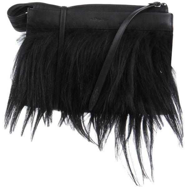 3.1 Phillip Lim Handbag ($920) ❤ liked on Polyvore featuring bags, handbags, black, real leather handbags, man bag, leather zip purse, leather purse and real leather purses