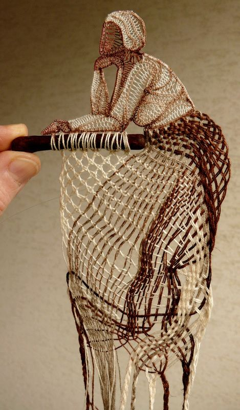 Lace & Wood - Wall Decoration with Lace by Agnes Herczeg
