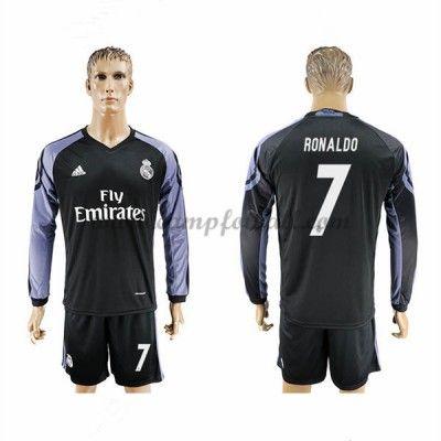Real Madrid Fotballdrakter 2016-17 Ronaldo 7 Tredjedrakt Langermet