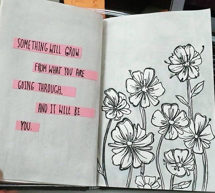 "(@_artpreciate) auf Instagram: ""Hang in there . . . . . . #art #artjournal #artjournalclub #illustration #flowers"