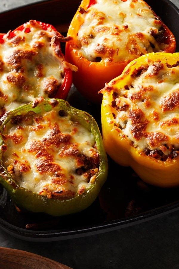 Cauliflower Rice Stuffed Peppers Recipe Stuffed Peppers Recipes Peppers Recipes