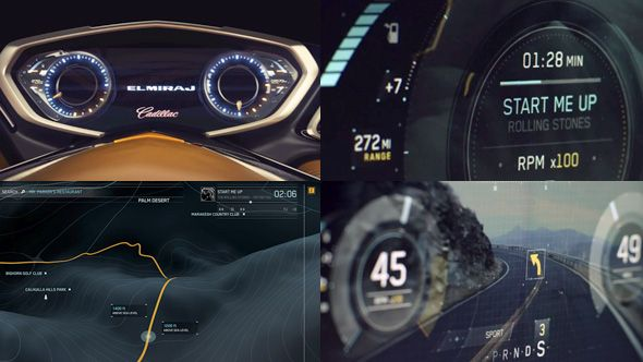 GM ELMIRAJ Concept car UI