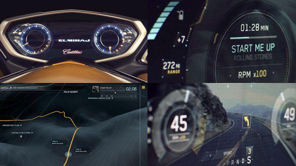 GM ELMIRAJ Concept car UI
