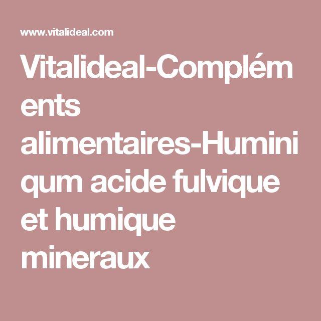 Vitalideal-Compléments alimentaires-Huminiqum acide fulvique et humique mineraux