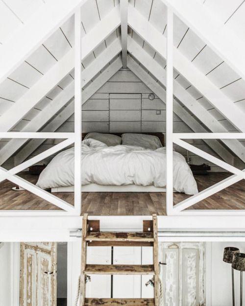 "upknorth: "" Scandinavian loft spaces. #getoutdoors #upknorth Perfect shot by the wonderful @tifforelie | Find us on Instagram: @upknorth """