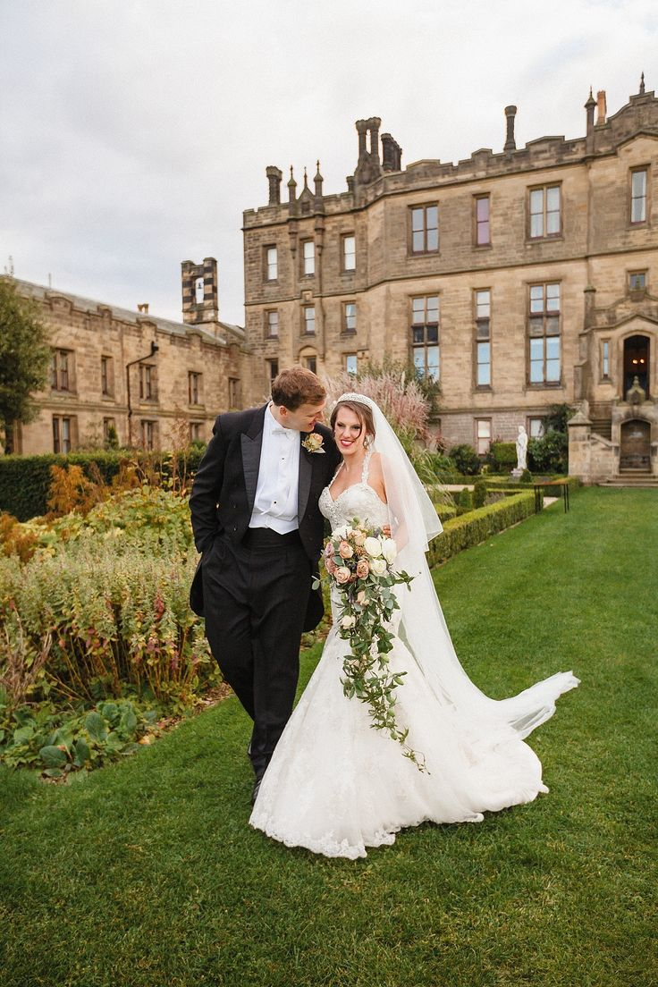 Traditional English Wedding at Allerton Castle - a remarkable celebration! See it here: http://www.StyleMePretty.com/little-black-book-blog/2014/03/05/traditional-english-wedding-at-allerton-castle/ JoPhoto