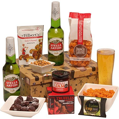Hot Stuff Beer Gift For Him - Beer Hamper & Spicy Treats Presented In A Smart Gift Box - Best Beer Gifts