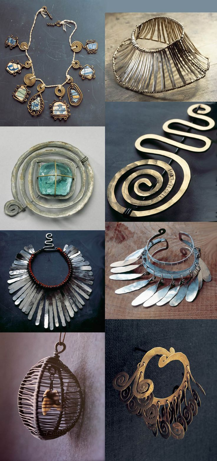 Alexander Calder jewelry -Could wire wrap. Love the chunky ness.
