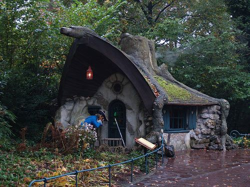 I wonder who's home in this little mystic-looking hut? Could be Yoda... Could be a hobbit or dwarf or any number of other fantasy folk...