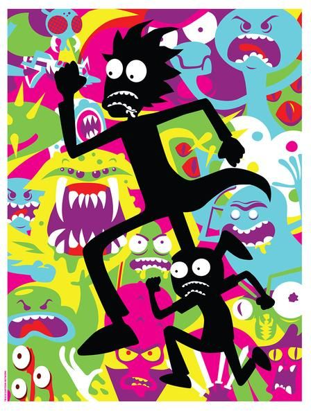"""Dan Stiles """"Show Me What You Got"""" Print http://nineteeneightyeight.com/collections/Rick-and-morty"""
