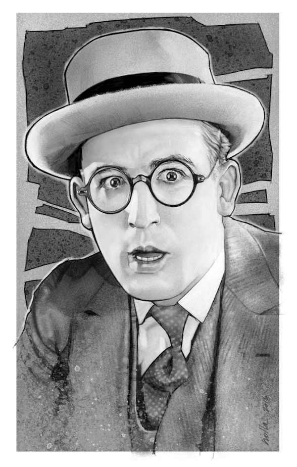 Drawing of the great comedian Harold Lloyd.