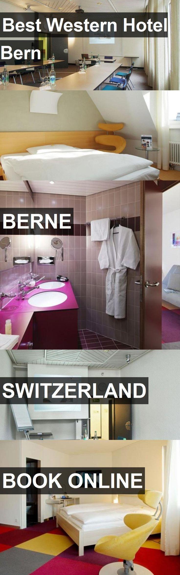 Hotel Best Western Hotel Bern in Berne, Switzerland. For more information, photos, reviews and best prices please follow the link. #Switzerland #Berne #BestWesternHotelBern #hotel #travel #vacation