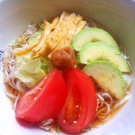 Chisaimono(手料理:蕎麦・うどん・そうめん) さっぱりサラダ感覚 野菜たっぷり冷製ひやむぎ