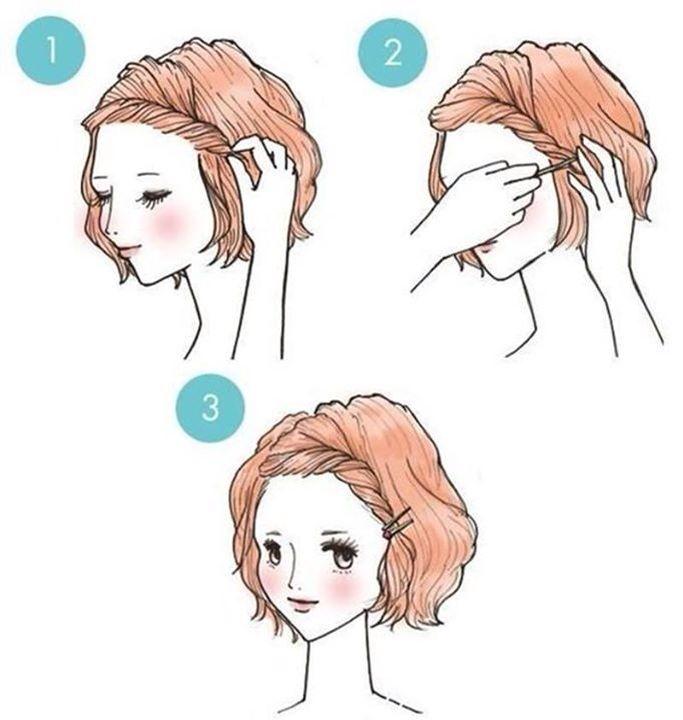 Tuto coiffure cheveux mi-long