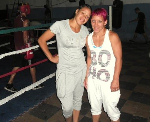 Esteche and Gimenez, pro boxers