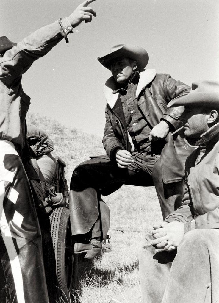 1960– Cowboys on long cattle-drive from South Dakota to Nebraska.  –photo by Grey Villet