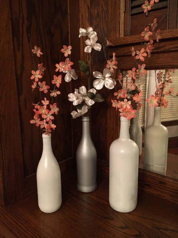 17 best ideas about wine bottle vases on pinterest wine bottle flowers bottle vase and bottle crafts - Flower Vase