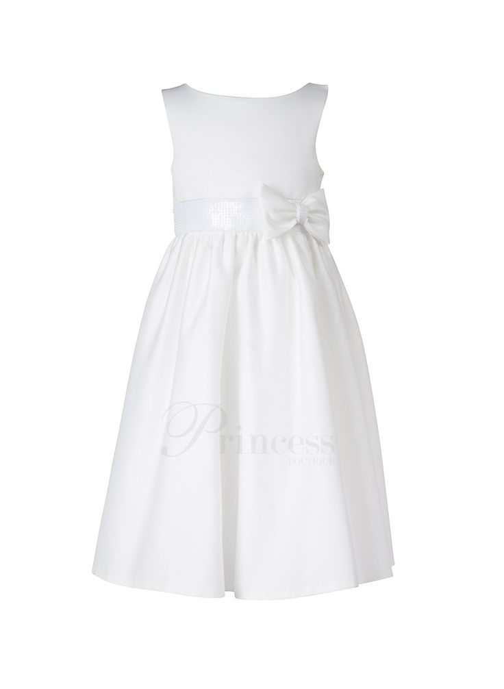 Flower Girl :: Elegant Satin Bow - Princess Boutique - Flower girl, Page Boy, Communion & Special Occasion Wear