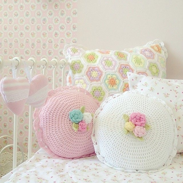 Soft pastel girly pillows