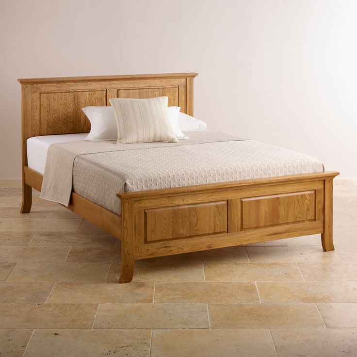 A beautiful traditional style and robust solid brushed oak hardwood construction make this double bed a perfect addition to any bedroom. Shop online now.