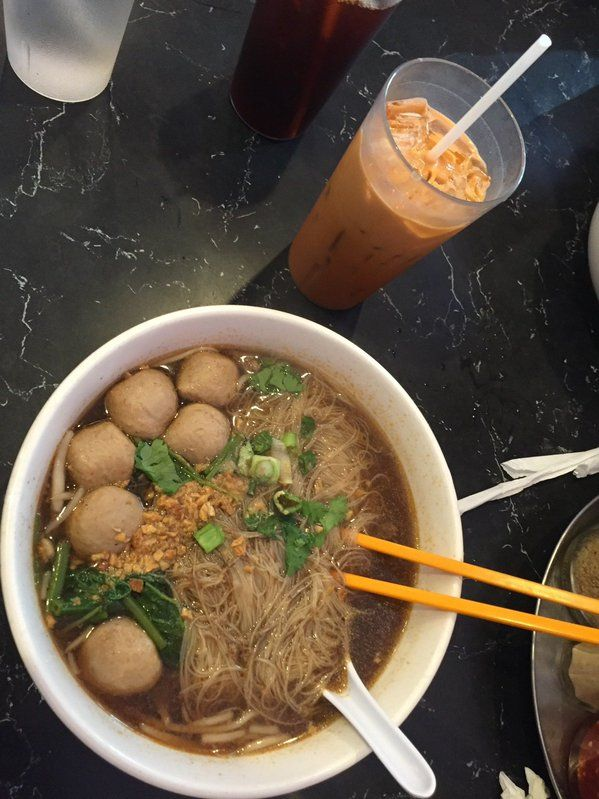 """Pardon the pun but this is """"PHO-nomenal!"""" King of Thai Noodle House needs to be on your to do list! #AMIA2015"""