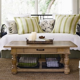 Love the color...Home Coffee Table in OatmealCoffe Tables, Coffee Tables, Decor Ideas, Oatmeal, Livingroom, Living Room, Wire Baskets, Furniture, Paula Deen