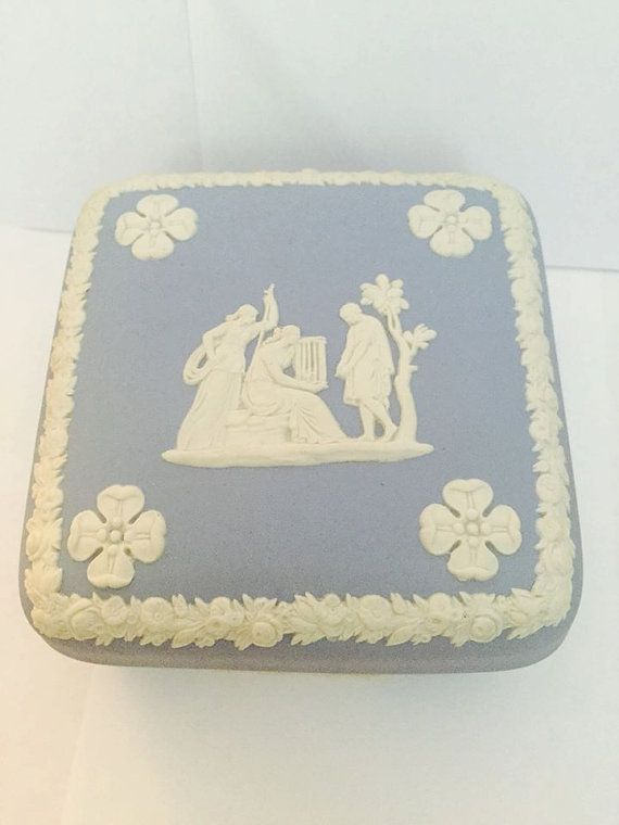 Vintage Wedgewood Jasperware Trinket Box by CNAntiques on Etsy