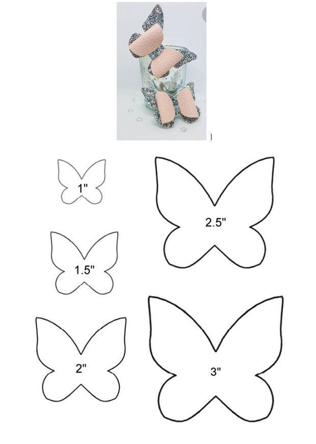 Patrones mariposa | patrones | Hair bows, Bows y Diy hair bows